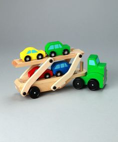Asa's favorite toy: Car Carrier Toy by Melissa & Doug on #zulily today!