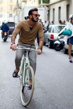 cycle chic, men styles, menfashion, bike fashion, bicycl, casual styles, street styles, men fashion, beard