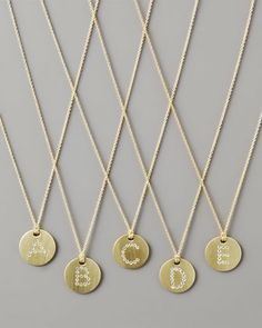 Push Present for Baby #2...W and ??? Letter Medallion Necklace by Roberto Coin at Neiman Marcus.
