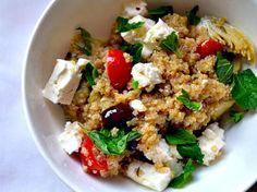 Greek Infused Quinoa Salad #passoverpotluck
