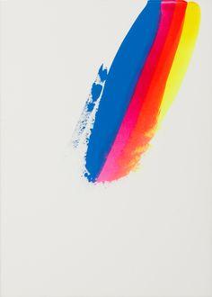 colour, brush strokes, art, andrea schimanski, paints, rainbow colors, summer colors, feather, stripe