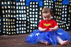 Baby wonder woman.. This would be perfect for a girl who has brothers #superheroes #halloween