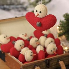 Primitive Fleece Snowman Ornaments