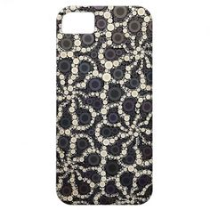 Mosaic Flower Petals Black Brown Tan iPhone 5 Cases SOLD on Zazzle