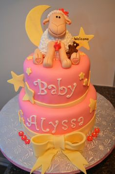 Baby shower lamb cake