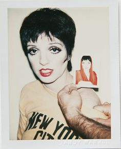 Liza Minnelli, 1977. Polaroid by Andy Warhol.