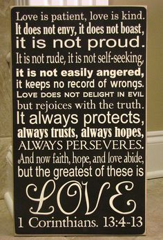 1 Corinthians 13:4-7, 13