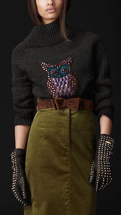 Beaded Owl Sweater | Burberry