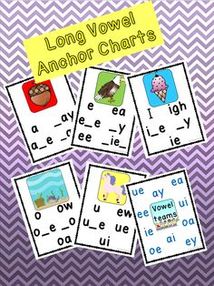 Short and Long Vowel Anchor Charts  & Phonics Dictionary