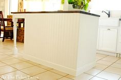 My kitchen island transformation...Part One - At The Picket Fence island idea, bead board, kitchen idea, kitchenremodel38jpg imag, hous idea, picket fenc, kitchen remodel3, beads, kitchen islands
