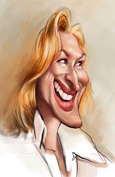Caricaturas graciosas de actores y actrices