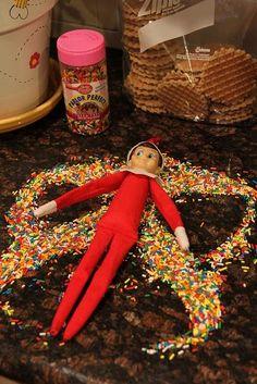 snow angel elf w/sprinkles. - better than sugar-easier to clean