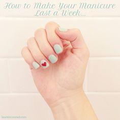 heart nail manicure