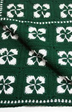 Crochet Shamrock Afghan Free Pattern from Red Heart Yarns