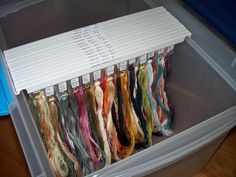 """Floss Organizing - I have a love hate with this. Annie's Keepers. They are so expensive, but looks so pretty! Maybe just for my """"specialty"""" floss and not the DMC (that's already bound on bobbins)"""