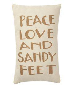 Cream & Tan 'Sandy Feet' Pillow by Collins