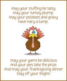 Thanksgiving dinner poem.
