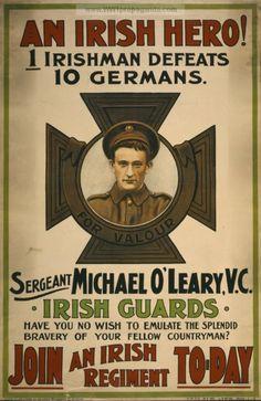 Irish recruiting poster, 1915.