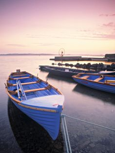 Boats on Lake, Connemara, County Galway, Ireland