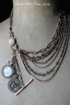 NECKLACE. $229.00, via Etsy. Love the shape of this one