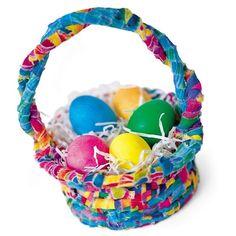Easter Craft: Easter Basket Making (Easter Baskets)   Spoonful