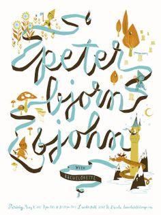 Anne Benjamin: Illustration: Peter Bjorn and John Poster