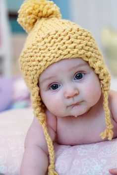 Not sure if it's the baby or the hat I love :)