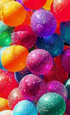 ♥FTR107 RAINBOW BALLOONS