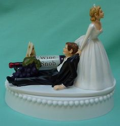 Wine Themed Wedding Cake Topper