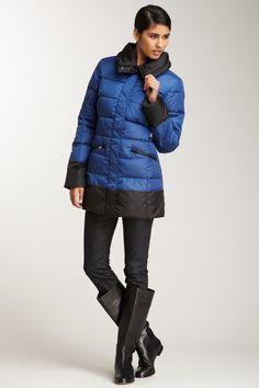 Colorblock Puffer Coat