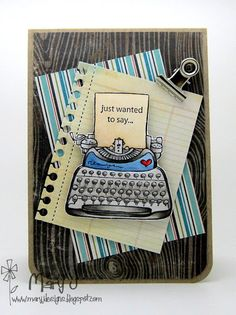 Where's my creativity?: Thank you card for a guy