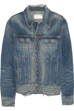 Rag & bone | Boyfriend distressed denim jacket | NET-A-PORTER.COM