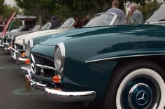 Mercedes-Benz 190 SL gathering at Cars & Coffee in Irvine.