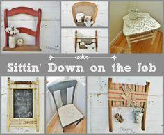MORE New Uses for Broken Chairs via KnickofTimeInteriors.blogspot.com