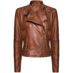 MANGO Leather jacket - Polyvore