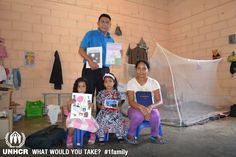 Adan, his wife and their two daughters fled El Salvador after he was threatened by a gang member. Adan worked in the police which made him a target of Salvadoran gangs. The most important things they brought with them were their Bibles and the religious notebooks of their daughters. UNHCR / M. Echandi  - Visit 1family: http://www.unhcr.org/1family