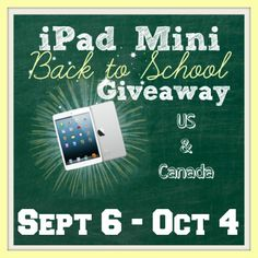 Enter to WIN an iPad Mini! Open to US & CAN. #WIN #Giveaway