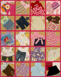 tshirt quilt, baby clothes quilt, tee shirt quilts, girl quilt, cloth quilt