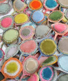 Sophie Digard crochet scarf Sciarpa della meravigliosa Digaqrd crochet scarf, color, lollipop