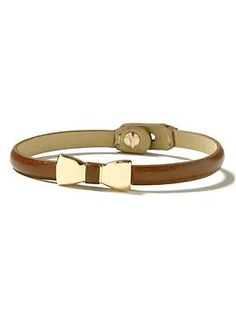 Leather bow bracelet | Banana Republic