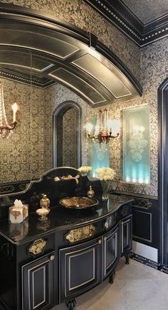 Gothic bathroom for the modern bathory on pinterest for Gothic bathroom ideas