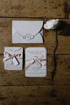 rustic wedding invitations, photo by Cinzia Bruschini http://ruffledblog.com/intimate-italian-wedding-with-rustic-details #weddingideas #weddinginvitations #stationery