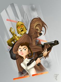 Star Wars inspired art created by Dave Moss!