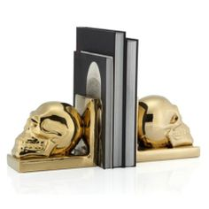 Skull Bookends - Set of 2 from Z Gallerie
