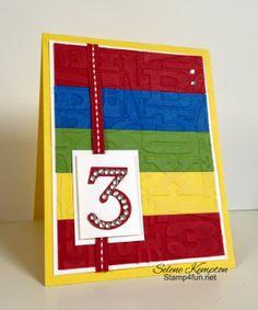 Stamp 4 fun with Selene Kempton, Stampin Up! Typeset Alphabet Bigz
