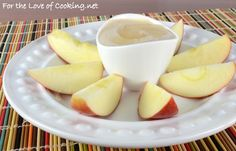 Peanut Butter and Honey Yogurt Dip with Apple Slices