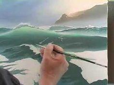 Oil Painting Technique - Wave Foam in Seascapes