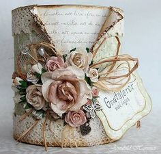 Love this altered paint can | Create this paint can yourself with our paint cans at http://www.thecarystore.com/containers-categories/packaging-and-containers-metal-containers-paint-cans