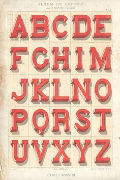 Vintage Alphabet #type #font #typographie