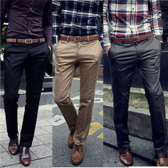 Men's Casual Solid Long Trousers